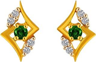 P.C. Chandra Jewellers 14KT Yellow Gold Stud Earrings for Women