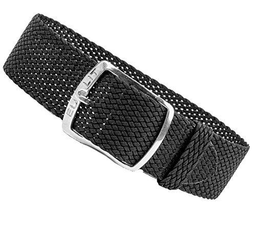 Kristall Ersatzband Perlonband Textilband schwarz, geflochten, wasserfest 25592S, Stegbreite:20mm