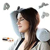 Myang Twist Memory Foam Travel Pillow for Neck, Chin, Lumbar and Leg Support -...