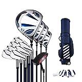 Paquete De Palos De Golf Club de Golf de los Hombres de Principiante Set Set de Golf de aleación de Titanio Nº 1 Combinación Conjunto Barra de carbón...