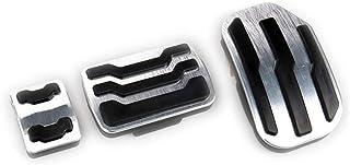 YXNVK Reposapiés de Freno de Combustible Pedales AT Pedal de Freno de Acelerador de Placa Almohadillas Adhesivas Accesorios de Estilo, para Ford F150 Pickup 2015-2019