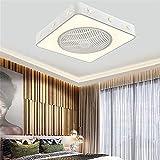 Ventilador de techo silencioso con iluminación Ventilador LED Luces de techo 40W Regulable con control remoto 3 velocidades 4H Candelabro de ventilador de sincronización para cama (luz del ventilador)