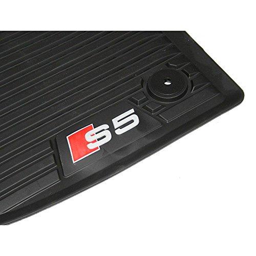 Original Audi S5(B9) Sportback felpudos delantero goma Allwetter Mate 2piezas 8W7061221b 041