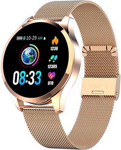 Smartwatch Sport Fitness Armband Rosegold Herrenuhr Aktivitätstracker Herzfrequenz Schlafüberwachung Schrittzähler Kompatibel für Android iOS