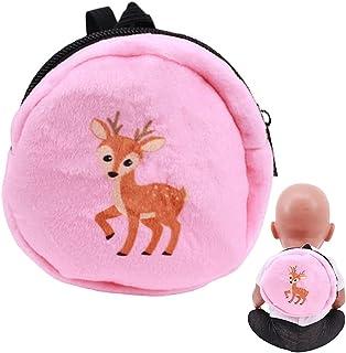 Anjetan Doll Backpack Mini Zipper Cloth Deer Pattern Small Fashion Doll Travel Bag Accessories Supply Adorable Girls