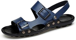 GBZLFH Sandales en Cuir d'été, Chaussures légères pour Hommes, Pantoufles de Plage Respirantes antidérapantes, adaptées au...