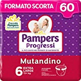 Pampers Progressi Mutandino XL, 60 Pannolini, Taglia 6 (15+ Kg)