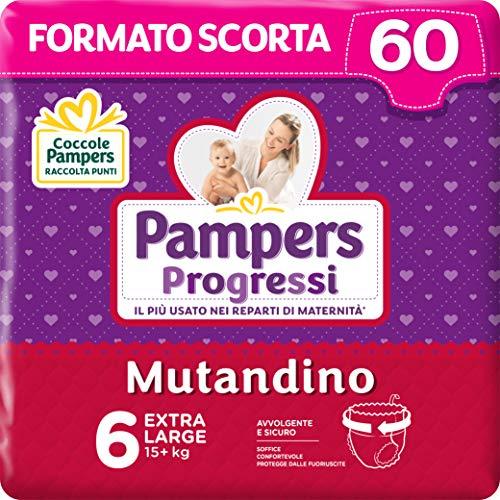 Pampers Progressi Mutandino XL 60 Windeln, Größe 6 (15+kg)