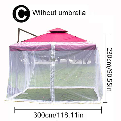 Zdcdy Mosquitera Cubierta, Paraguas del JardíN Al Aire Libre Pantalla De La Mesa Parasol Mosquitera Cubierta Red a Prueba De Insectos, Gazebo Canopy Mosquito Netting