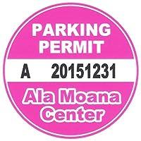 ハワイアン雑貨/ハワイ雑貨 HID ハワイアンアイランドデザイン パーキング パーミット ステッカー(Ala Moana Center) 【ハワイ お土産】