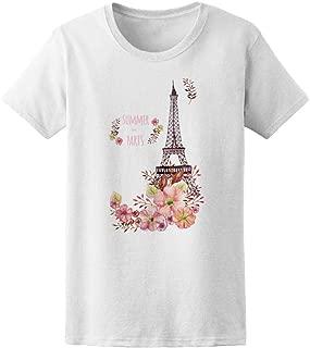 Eiffel Tower With Flowers Tee Women's -Image by Shutterstock