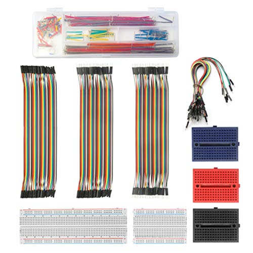 Solderless Breadboard Jumper Wires Set– ALLDREI BJ-001 400 Pin and 830 Pin Prototype PCB Bread Board and Jumper Cable (Male-Female, Female-Female, Male-Male) for Raspberry Pi and Arduino