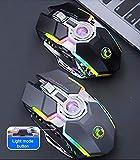 Ratón inalámbrico para videojuegos, ratón de ordenador, silencioso, recargable, USB, 7 teclas, retroiluminación LED, ratones para ordenador portátil