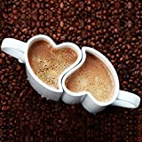 Eurowebb Duo de Tasses romantiques en Coeur s'emboîtent Blanc