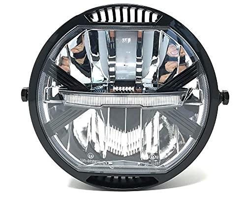 "LED Motorrad Scheinwerfer 7 \"" für Projekt Cafe Racer oder Streetfighter - Homologated"