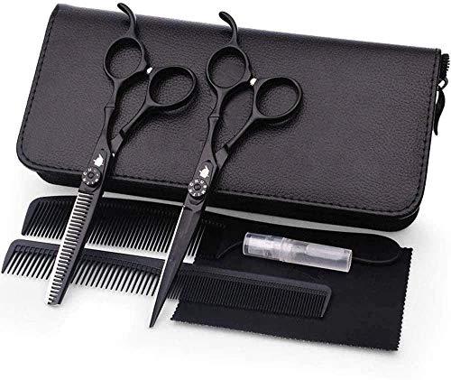 HZWLF Ciseaux de Coiffure Ciseaux de Coiffeur amincissement Professionnel avec étui Sharp Coupe précise Coupe de Cheveux Parfaite pour Femmes Hommes