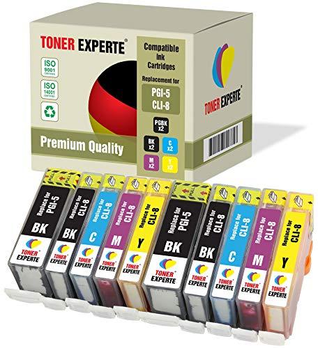 10 XL TONER EXPERTE® PGI-5 CLI-8 Druckerpatronen kompatibel für Canon Pixma iP4200, iP4300, iP4500, iP5200, iP5200R, iP5300, MP500, MP600, MP600R, MP610, MP800, MP800R, MP810, MP830, MX850