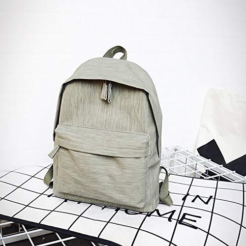 Neue Frauen Rucksäcke Dickes Material Einfache Einfarbige Junior High School Student Tasche Einkaufsrucksack 3 30 * 12 * 40Cm