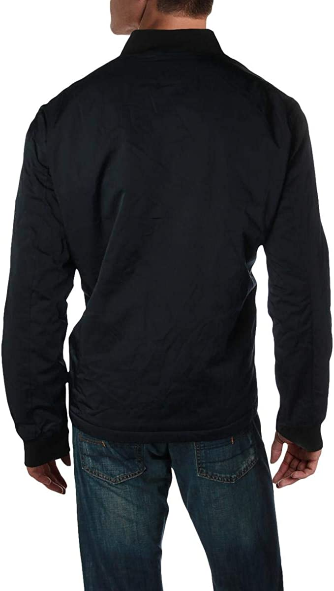DKNY men's Derek Flight Satin Bomber Jacket