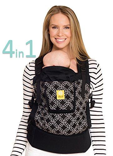 LÍLLÉbaby 4-in-1 Essentials Original Ergonomic Baby & Child Carrier, Stone - 100% Cotton