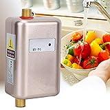 Moderno y práctico calentador de agua instantáneo para el hogar dorado, mini calentador de agua instantáneo, frío y caliente, multipropósito con luz indicadora para la cocina(European standard 220V)