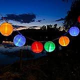 Uping® Led Lichterkette 20er Batterienbetriebene Lampions Laterne für Party, Garten, Weihnachten, Halloween, Hochzeit, Beleuchtung Deko usw. 3,6M multifarbig
