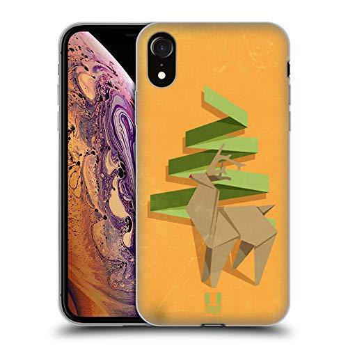 Head Case Designs Rudolph Navidad de Origami Carcasa de Gel de Silicona Compatible con Apple iPhone XR