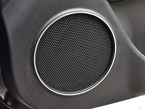 Cubierta De Acero para Alfa_Romeo MITO - 2 Piezas Altavoz Marco Metal Cepillado Interior Decoración Personalizados Hechos a Medida Tuning