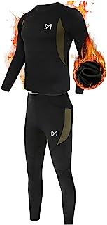 ست لباس زیر حرارتی مردان ، ESDY Sport Long Long Johns Base Layer برای مردان ، لباس های فشرده سازی زمستانی زمستانی برای اجرای اسکی