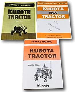 Best kubota b6000 parts manual Reviews