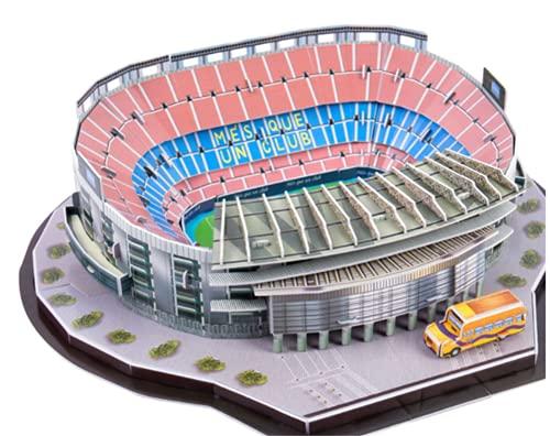 SY-Home Camp NOU Stadium 3D-Montagemodell, DIY-Puzzle-Stadionmodell Barcelona-Fußballstadion Für Erwachsene Und Kinder-Puzzlespiel