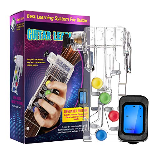 Guitar Beginner with Tuner, One-Key Chord Assisted Learning Tools for Adults & Children Trainer Beginners