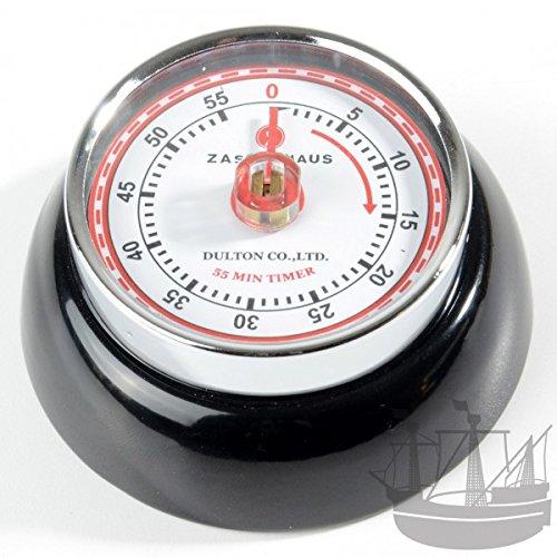 Zassenhaus 72310 Kitchentimer - Küchentimer - Kurzzeitmesser - Eieruhr - Timer Speed mit Magnet Ø 7 cm Höhe 3 cm