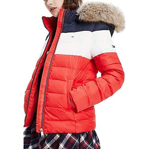 Tommy Jeans Damen TJW MODERN Colorblock Jacket Jacke, Rot (RED 0EW), (Herstellergröße:XXL)