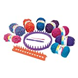 Cra-Z-Art - Kit para tejer punto con 8 ovillos lana Shimmer n Sparkle (44092)