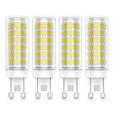 4X G9 Bombillas LED 9W Lámpara LED 76 SMD 2835LED Blanco Frío 6000K Bombilla Lámpara Super Brillante 700LM AC220-240V