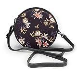 Watercolor Blossom Flower Damen Fashion Runde Umhängetasche Handtasche Kleine Geldbörse Schule Arbeit Tasche, Blau - tulpe - Größe: Einheitsgröße