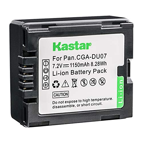 Kastar Camcorder Battery Replacement for Panasonic CGR-DU06 CGA-DU06 CGR-DU07 CGA-DU07 CGR-DU14 CGA-DU14 CGR-DU21 CGA-DU21 and Hitachi DZ-BP14S DZ-BP7S DZ-BP21SJ Battery