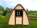 Beauty.Scouts Holzspielhaus Solvig 145x120x134cm aus Zypresse in braun Kinder Spielhaus...