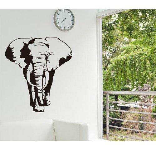 Createforlife Home Decoration Vinyl Wall Sticker Decals Mural Art Big Black Elephant