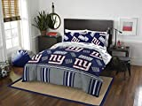 Officially Licensed NFL New York Giants Queen Bed in a Bag Set, 86' x 86'