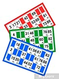 Cartones de juego de loto 96 cartas, cartón de loto