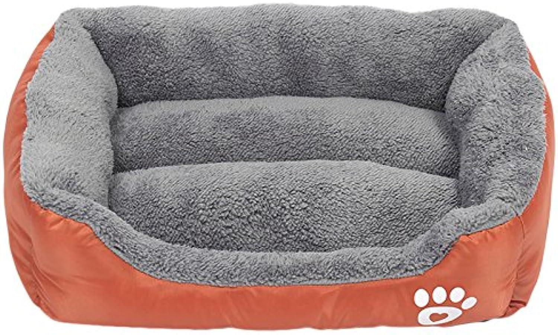 Legendog Pet Bed Pet Cushion Ultra Soft Waterproof Pet Bolster Bed Pet Mattress for Small Medium Large Dogs Cats Size L (orange)