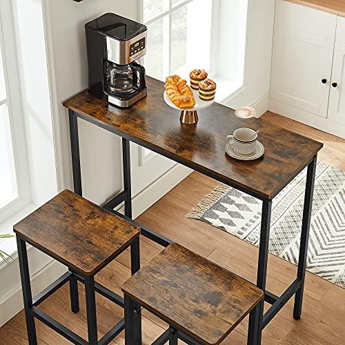 Style Industriel Table de Bar et chaises de Bar