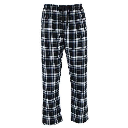 Hanes Men's Flannel Pajama Lounge Pants, 2XL, Black Plaid