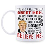 Donald Trump Mug, You are A Really Great Mom - Gifts for Mom from Daughter/Son/Husband, Coffee Mug Novelty Prank Gift for Mommy on Mother's Day/Birthday/Christmas 11 Oz