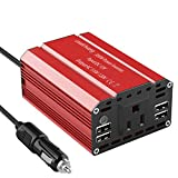 Leadchuang 300 Watt Power Inverter 12V to 110V Converter for Car USB Charger Car Power Inverter Power Inverter 300 Watt for Car Cigarette Lighter
