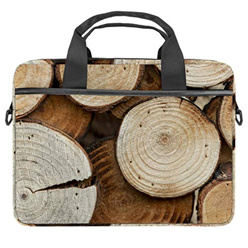 Laptop Bag Wood Notebook Sleeve with Handle 13.4-14.5 inches Carrying Shoulder Bag Briefcase