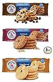 Voortman Sugar Free Cookies | Chocolate Chip Cookies | Shortbread Swirl | Oatmeal - BUNDLE 3 Pack -...
