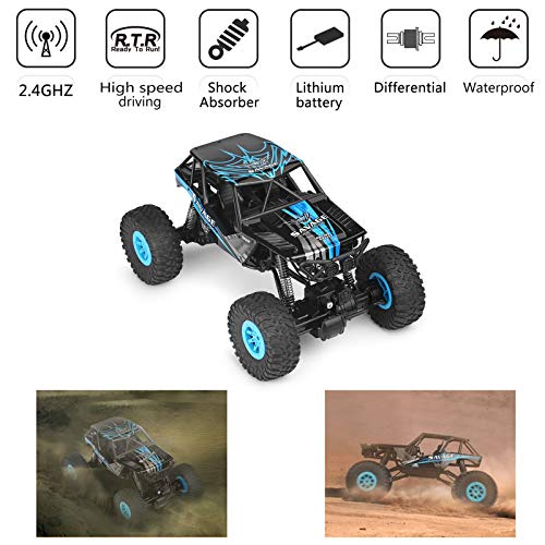 Areyourshop RC Cars Toy, Remote Control Car-Stunt Car Wltoys 10428-D 1/10 Scale 2.4G 4WD Electric Brushed Crawler